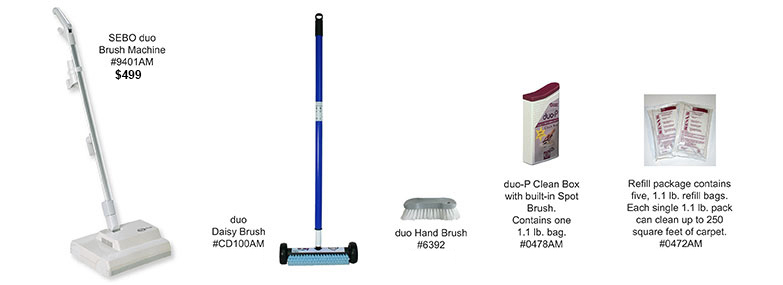 Carpet cleaning sebo duo dry carpet cleaning machine cleaning powder sebo duo cleaning system sciox Gallery